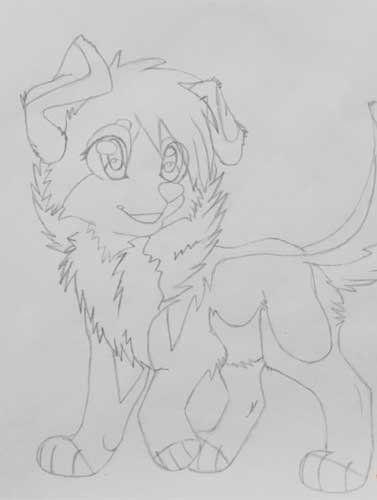 1205e21c701b Learning to draw an anime dog with pencils – step 7