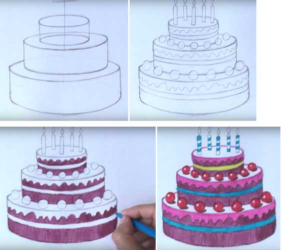 How To Draw Cake cool