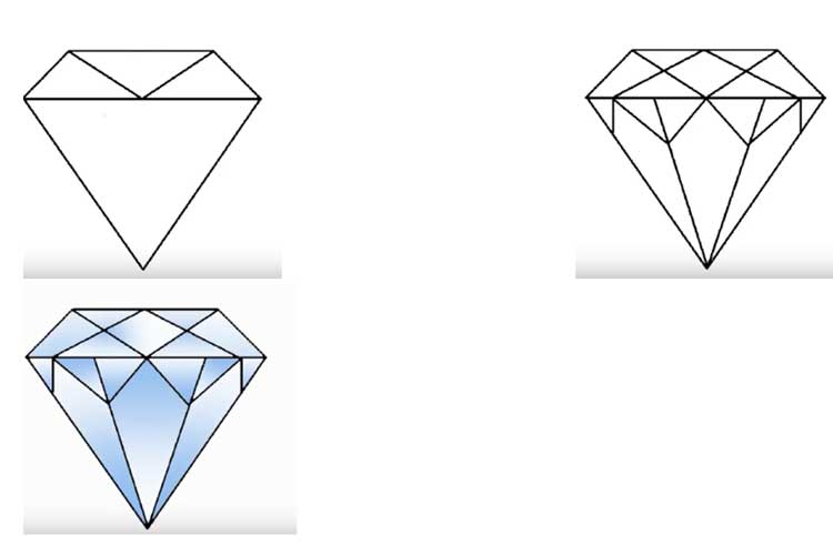 How to draw a diamond and brilliant
