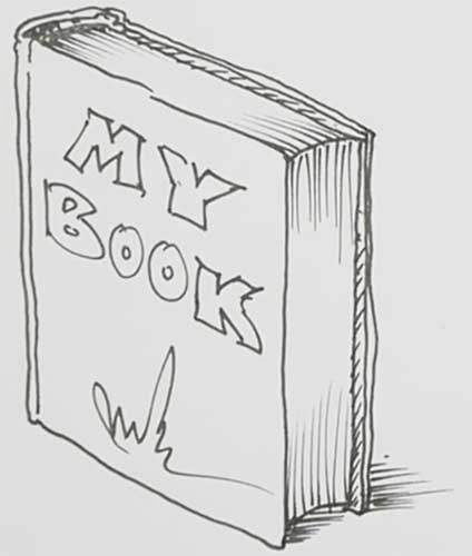 How to draw a book open, closed, standing up very easy