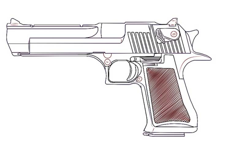 How to draw a gun