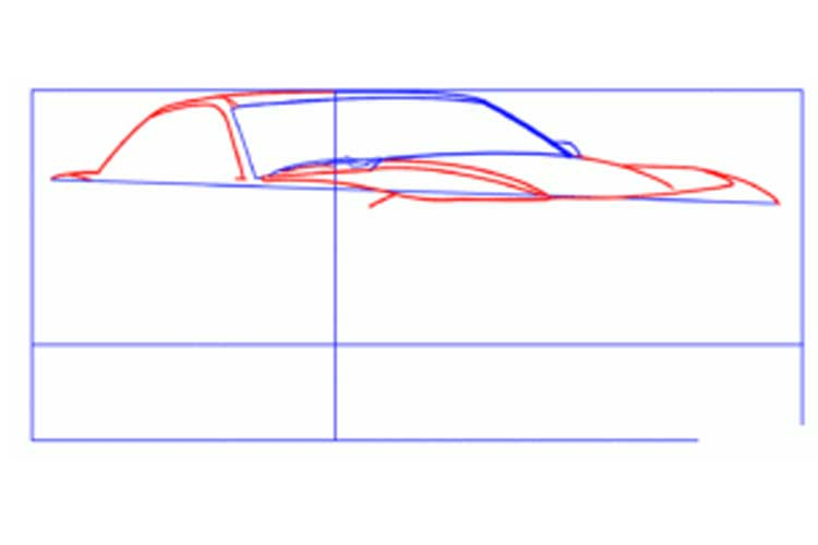 How to draw a Camaro