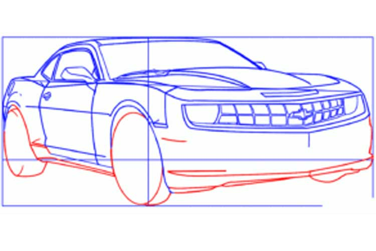 How to draw a Camaro: Chevy Camaro, Step by Step Easy, SS1969(2015)