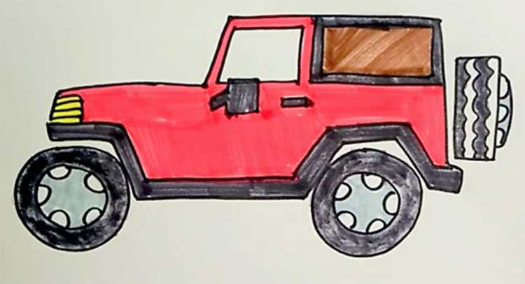 Jeep Drawing Easy