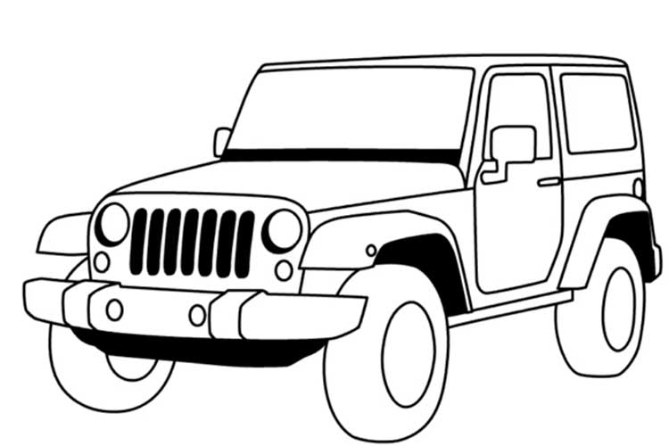 Army Jeep Drawing Easy