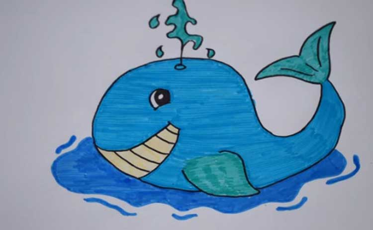 Whales drawing