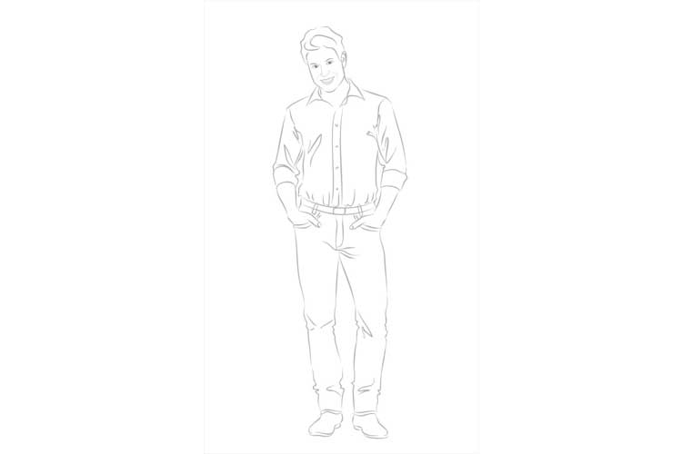 How to draw a man