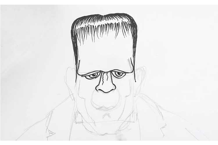 How To Draw Frankenstein: Cute, Easy Draw Face And Head