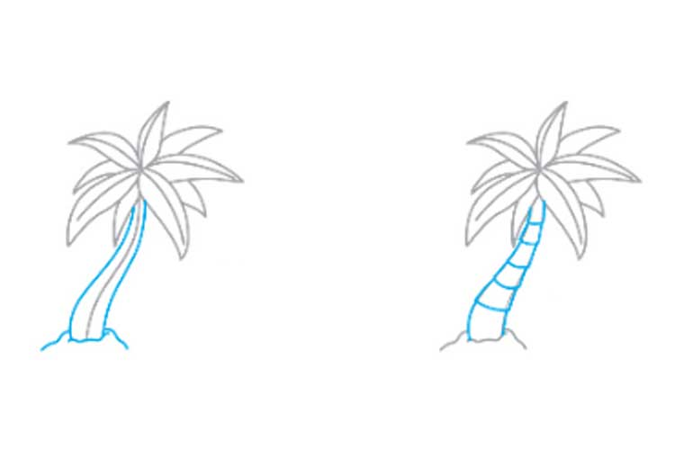 How to draw a palm tree POSTED ON JANUARY 6, 2019 BY ADMIN How to draw a palm tree? – many novice drawers are asking this question! So, to understand how to draw a palm tree in stages, we need a paper sheet, an eraser, a pencil and coloured markers. This example of drawing is not too complicated and will suit any artist. Coconuts will grow on our tree. Therefore, we depict a trunk on the top of which three coconuts will hang. From them you need to draw five lines in different directions, in the future they will turn into branches. Drawing palm tree from newbies This example is the most detailed in this article as it is designed for beginners. In 8 steps you will learn how to draw a palm tree for beginners. The first step will be drawing a few lines as in the picture below. Based on the resulting outline we will draw five sheets. To make our palm tree look lusher in the background between the leaves, we will draw four more branches. We depict the trunk, which should look like it was assembled from cubes. From the bottom they are larger and closer to the top, respectively, decrease. Also, don't forget the ground below. This step is quite remarkable. It is necessary to cut out triangles from foliage to make real palm leaves. Everything is ready; it remains to take the coloured markers and paint our small landscape. An easy way for kids The final way to draw this tree in this article will be an example that will help you to draw a palm tree for children of any age. Draw an elongated triangle with smooth edges. Its lower part should turn out to be slightly rounded, as this will be the base of the trunk of our palm. Depicting the foliage. Now small coconuts. Cover the tree with a grid to get the bark. Colouring. How to draw a palm on the island There are two of the most famous landscapes, either the coast or the island. And now we will look at how to draw a palm tree on an island. Of course, they can grow to the depths of the mainland, but this option is much more popular. As usual, the first thing we have to portray is the trunk of our palm. Now we will work on the island in the open sea. We depict the beach in the form of a small mound, which will rise above the water. Then paint on the waves. We draw bark with thin strokes. Closer to the base the strokes are longer and closer to the end is shorter. Also, add two small coconuts. Foliage is drawn in the standard way. First, we draw a smooth line that leans slightly towards the ground, and below we make acute strokes. In the same way, we add some more branches. To add atmospheric to our picture, you can paint a starfish and a shell on the beach. Save