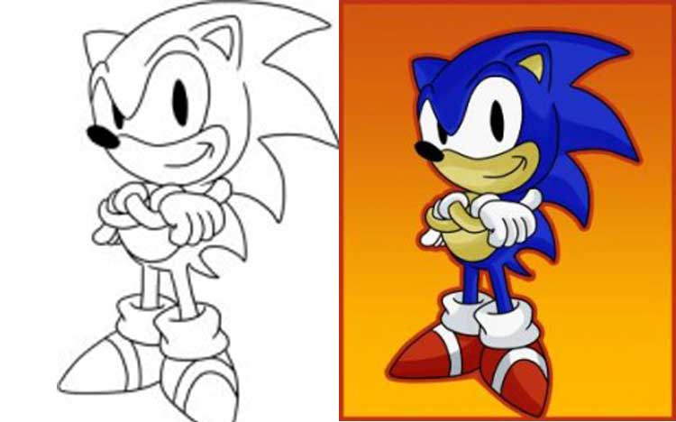 How to draw sonic