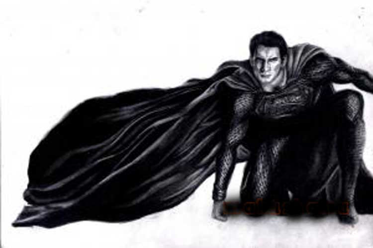 How to draw Superman