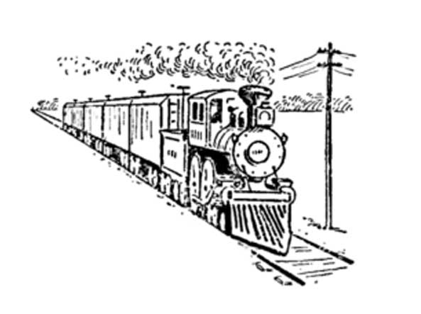 How to draw a train