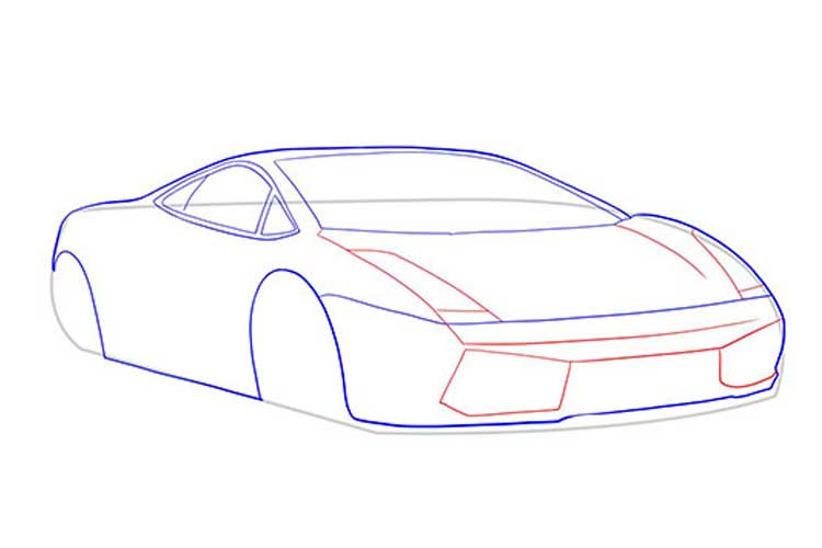 How to draw a Lamborghini