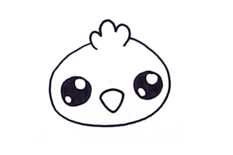 Cute chicken drawing