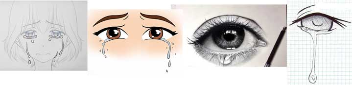 How to draw a tear