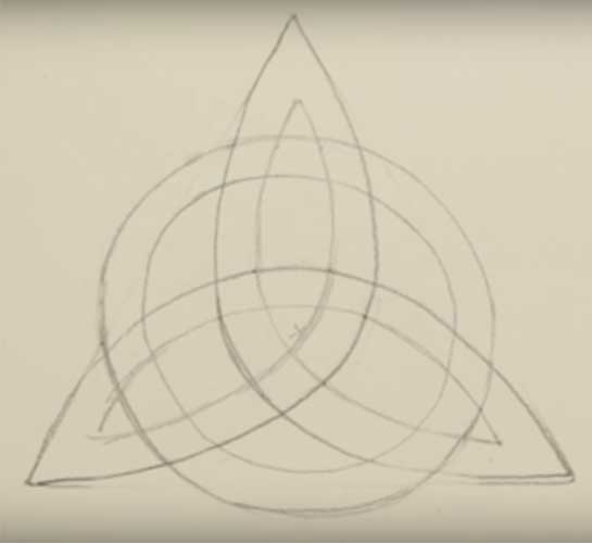 How to draw a triquetra