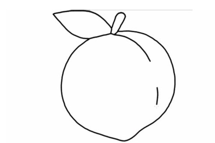 How to draw a peach