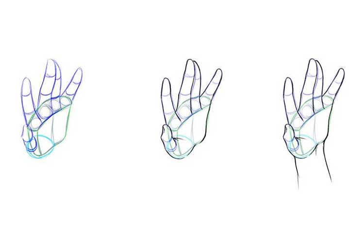 How to draw arms