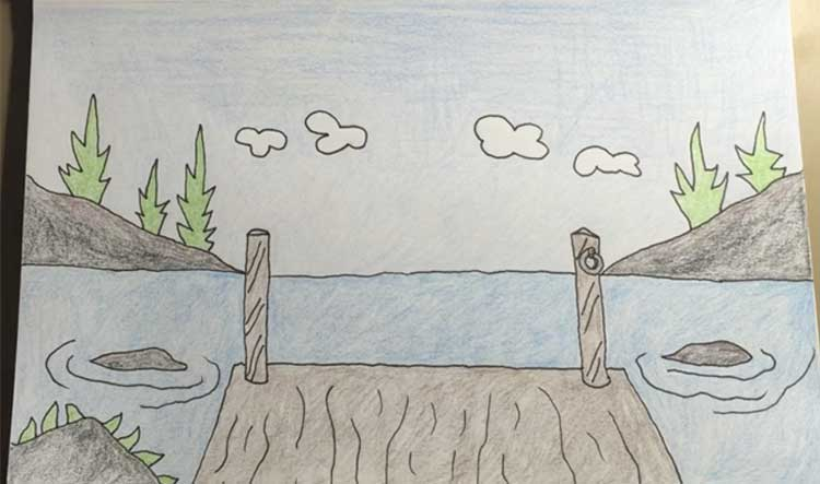 How to draw a lake
