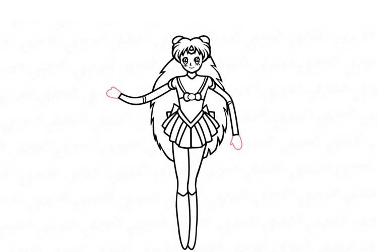 How to draw sailor moon