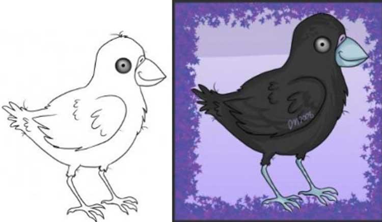 Raven Drawing