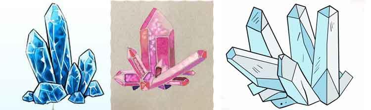 Crystal drawing