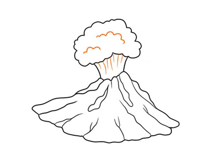 Volcano drawing