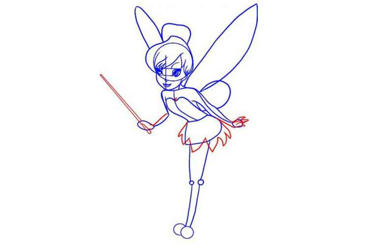 how to draw a fairy easy
