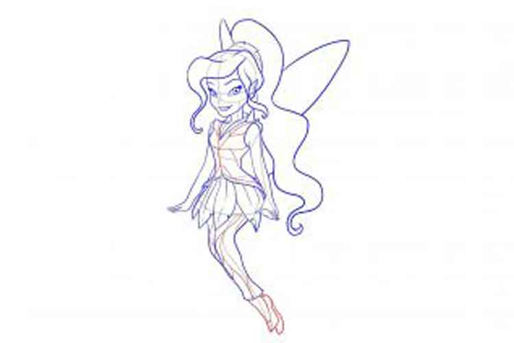 how to draw a realistic fairy