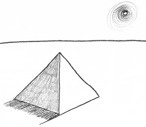 Pyramid drawing