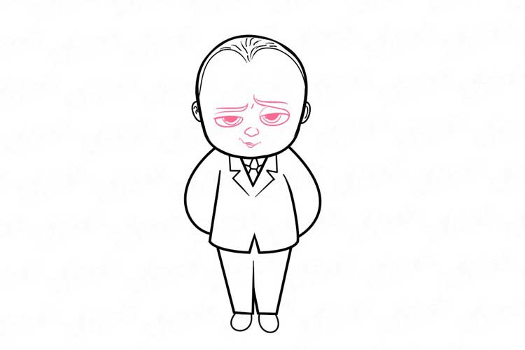 How to draw boss baby easy