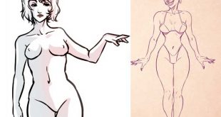 Naked women drawing