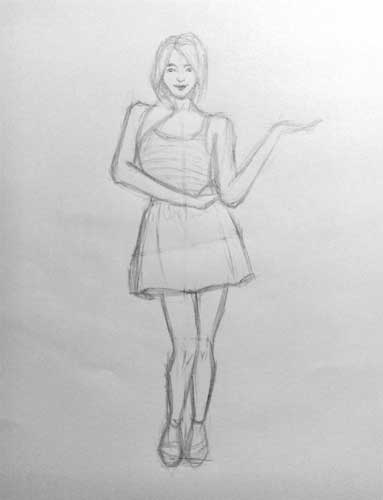 Women drawing full body