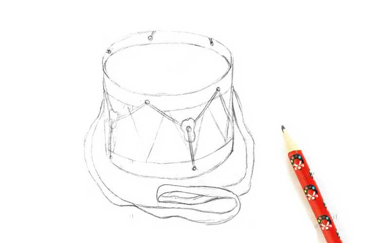 Drums drawing At Home
