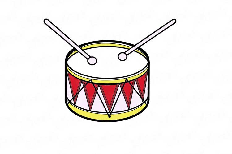 Drums drawing easy