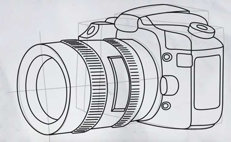 How to draw a camera