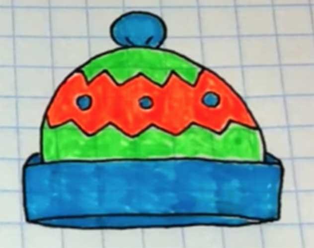 Drawing a beanie