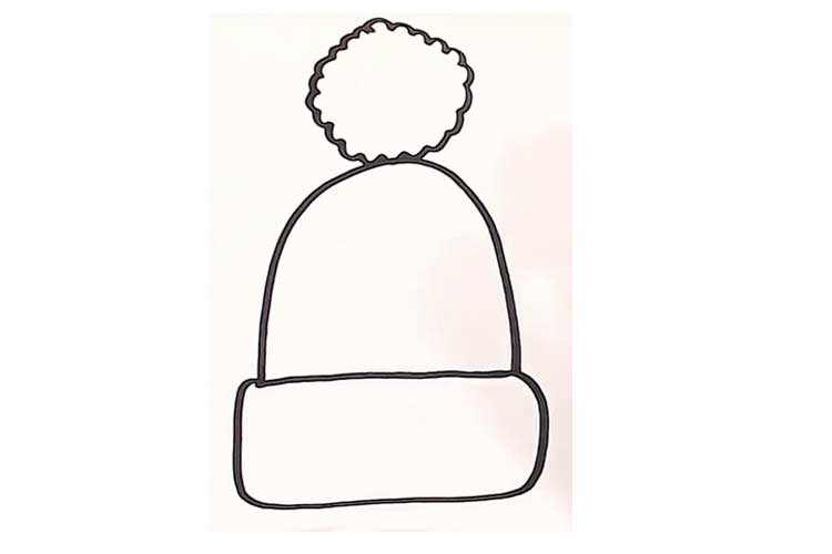 How to draw a beanie hat
