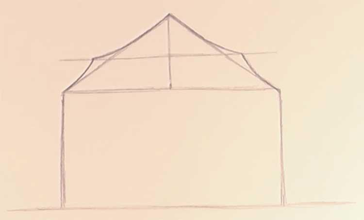 circus tent drawing