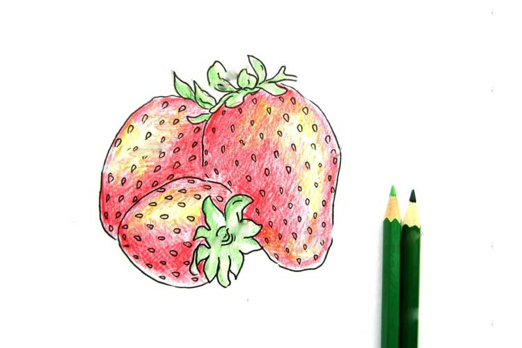 strawberry drawing easy