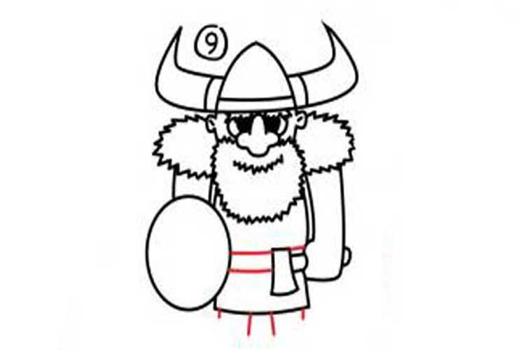 viking drawing easy