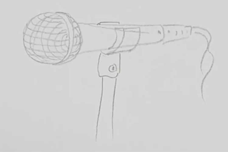 drawing of microphone
