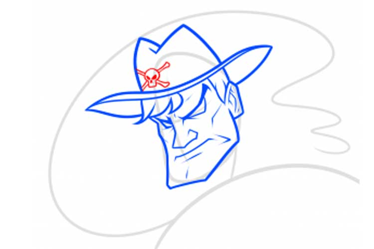 cowboy drawing easy