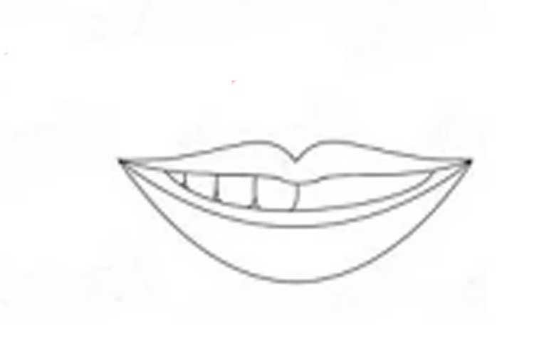 cute smile drawing