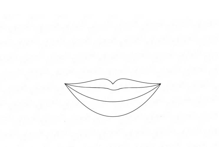smile drawing easy