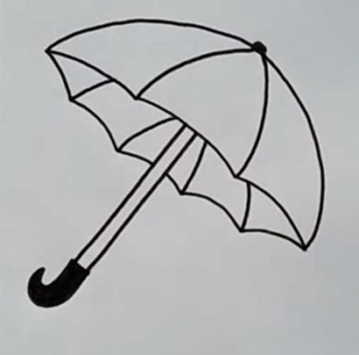 umbrella drawing easy