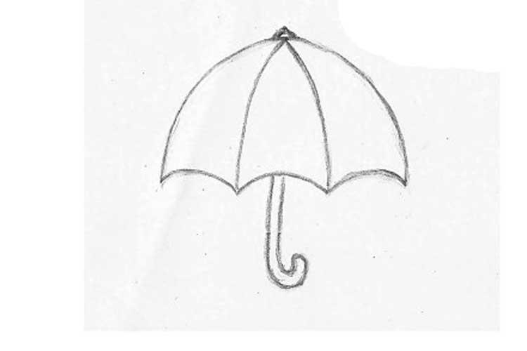umbrella drawing for kid