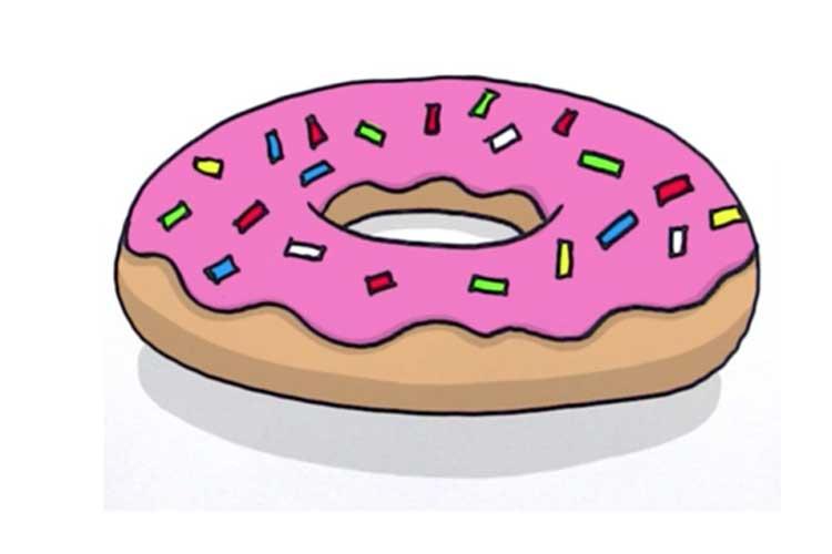 cute donut drawing