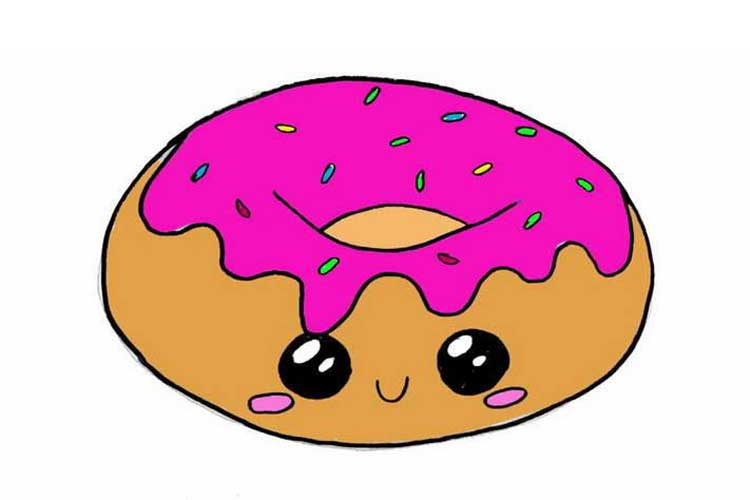 donut drawing easy