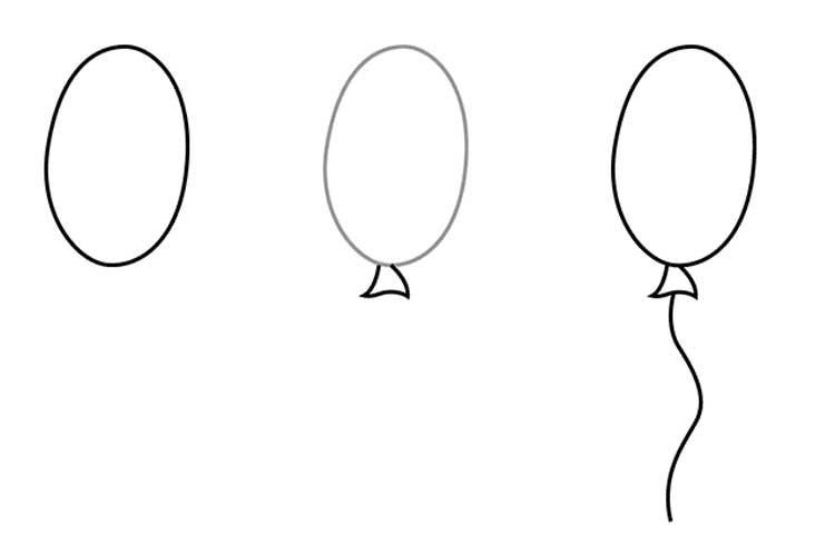 Balloon Drawing easy